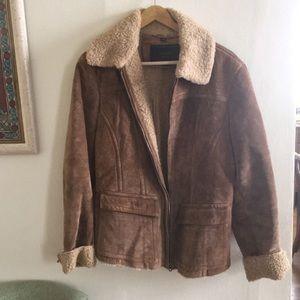 Amazing Vintage Suede Jacket - Size Large